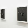 clous de charpentier, papier carbone et 2 cadres 20 x 25 cm, 2017